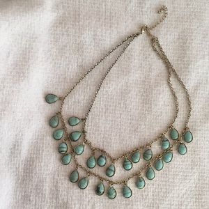 Turquoise inspired layered necklace
